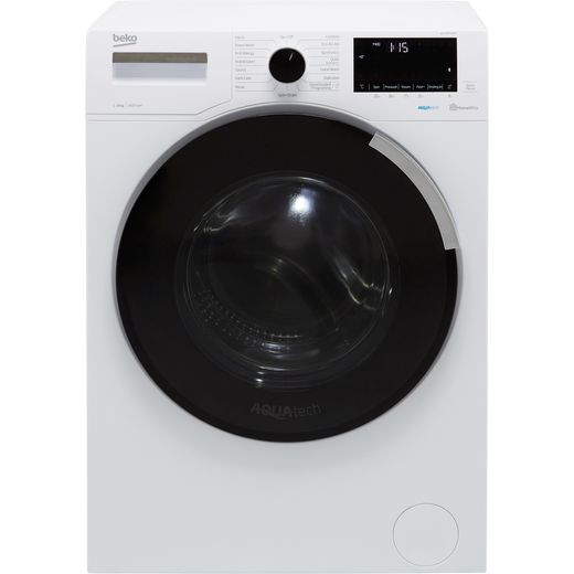 Beko Aquatech RecycledTub™ WEY84P64EW 8Kg Washing Machine with 1400 rpm - White - A Rated