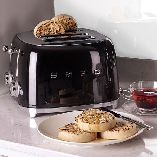 Smeg 50's Retro TSF03BLUK 4 Slice Toaster - Black