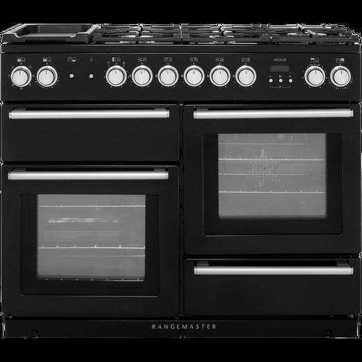 Rangemaster Nexus NEX110DFFBL/C 110cm Dual Fuel Range Cooker - Black - A/A Rated