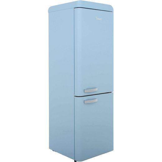 Swan Retro SR11020BLN 70/30 Fridge Freezer - Blue - F Rated