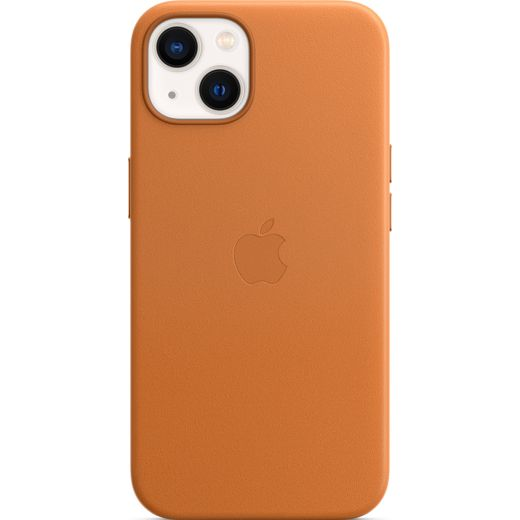 Apple Leather Case with Magsafe for iPhone 13 - Golden Brown