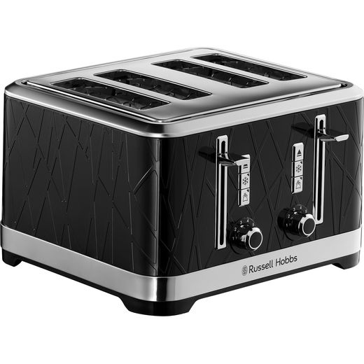 Russell Hobbs Structure 28101 4 Slice Toaster - Black