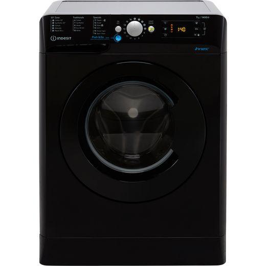 Indesit BWE71452KUKN 7Kg Washing Machine with 1400 rpm - Black - E Rated