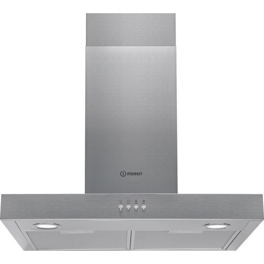 Indesit IHBS6.5LMX 60 cm Chimney Cooker Hood - Stainless Steel - D Rated