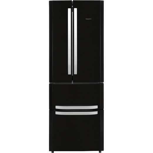 Hotpoint FFU4DK1 60/40 Frost Free Fridge Freezer - Black - F Rated