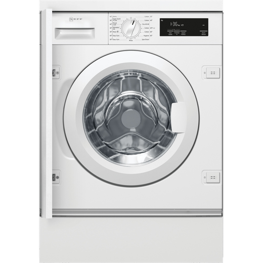 NEFF W544BX1GB Integrated 8Kg Washing Machine with 1400 rpm - White - C Rated