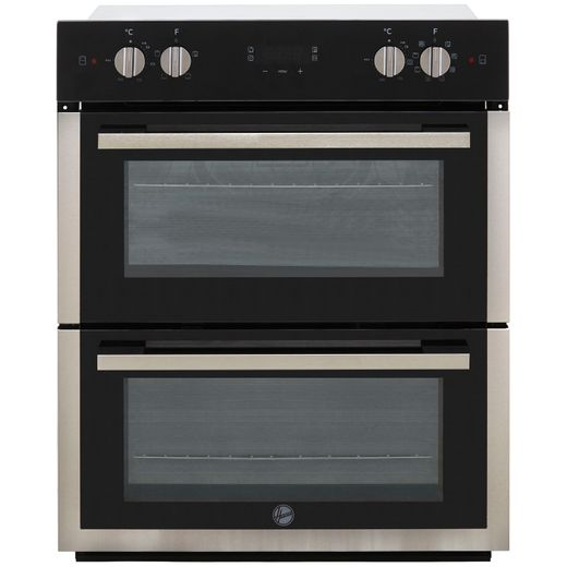 Hoover H-OVEN 300 HO7DC3UB308BI Built Under Electric Double Oven - Black / Stainless Steel - A/A Rated
