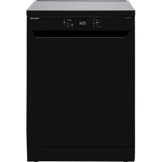 Sharp QW-NA1CF47EB-EN Standard Dishwasher - Black