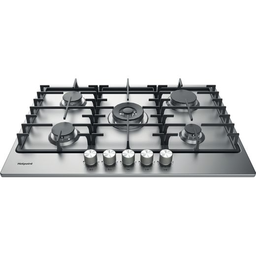 Hotpoint PPH75GDFIXUK Built In Gas Hob - Silver