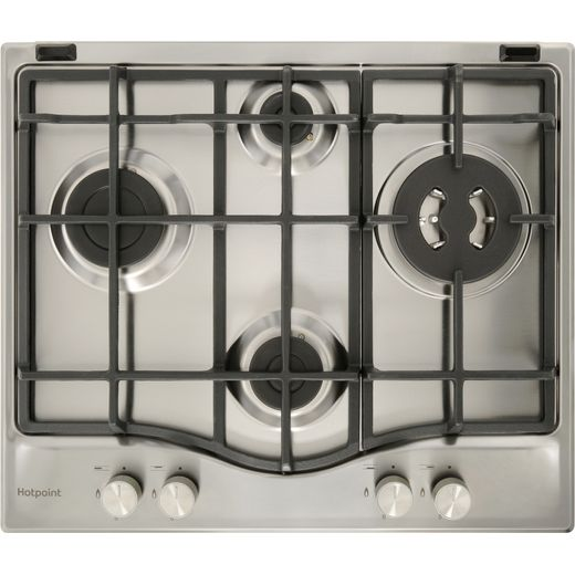 Hotpoint PCN641T/IX/H 59cm Gas Hob - Stainless Steel