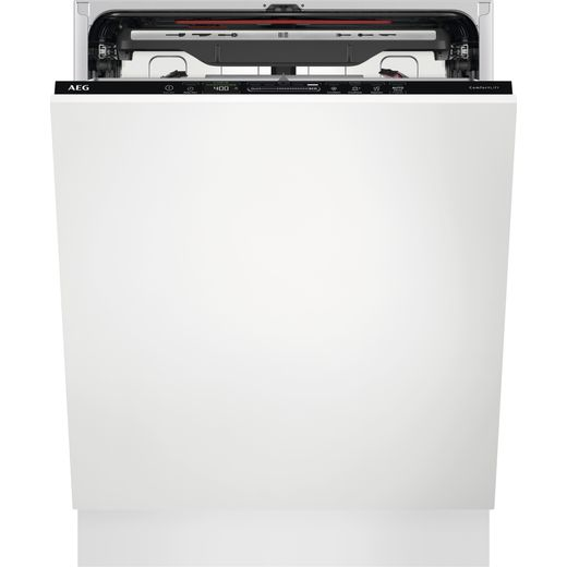 AEG FSE83837P Fully Integrated Standard Dishwasher - Black Control Panel - D Rated