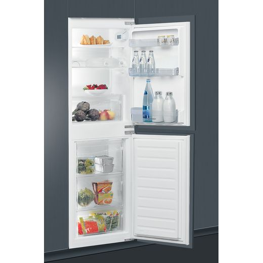 Indesit EIB15050A1D.UK1 Integrated 50/50 Fridge Freezer with Sliding Door Fixing Kit - White - A+ Rated