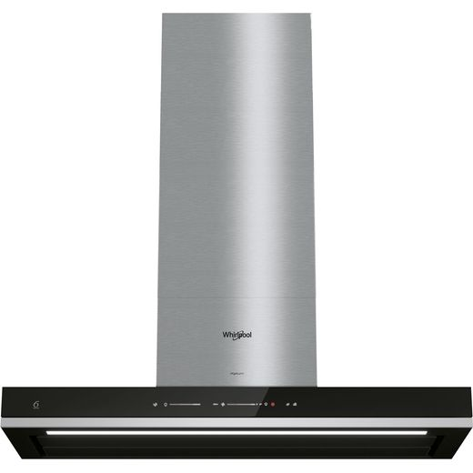 Whirlpool W Collection WHSS90FTSK 90 cm Chimney Cooker Hood - Black - A++ Rated