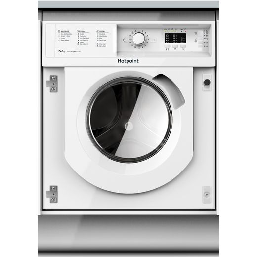 Hotpoint BIWDHL7128 Integrated 7Kg / 5Kg Washer Dryer with 1200 rpm - White - B Rated