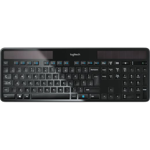 Logitech K750 Wireless USB Keyboard - Black