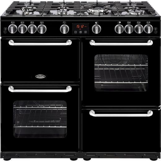 Belling SANDRINGHAM100G 100cm Gas Range Cooker - Black - A/A Rated