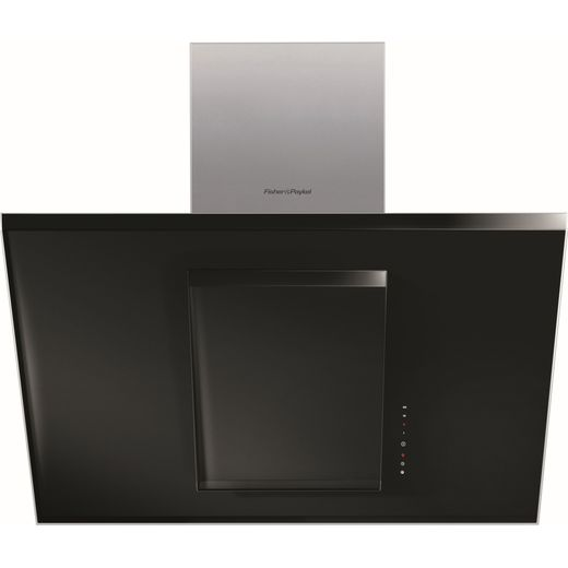 Fisher & Paykel Designer HT90GHB2 90 cm Angled Chimney Cooker Hood - Black - A Rated