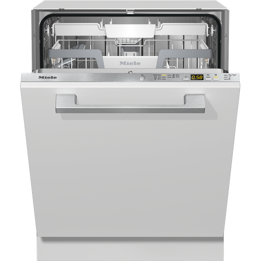 Miele G5272SCVi Fully Integrated Standard Dishwasher - Clean Steel Control Panel with Fixed Door Fixing Kit - C Rated