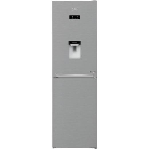 Beko HarvestFresh CNG4601DVPS Frost Free Fridge Freezer - Stainless Steel - E Rated