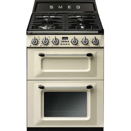 Smeg Victoria TR62P Dual Fuel Cooker - Cream - A/A Rated