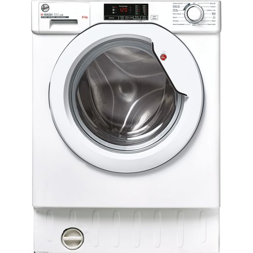 Hoover HBWS48D1E Integrated Washing Machine with 1400 rpm - White - D Rated