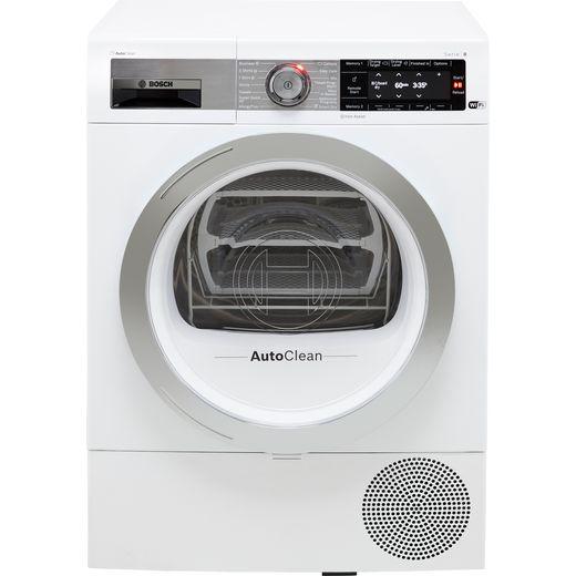Bosch Serie 8 WTX88EH9GB Heat Pump Tumble Dryer - White