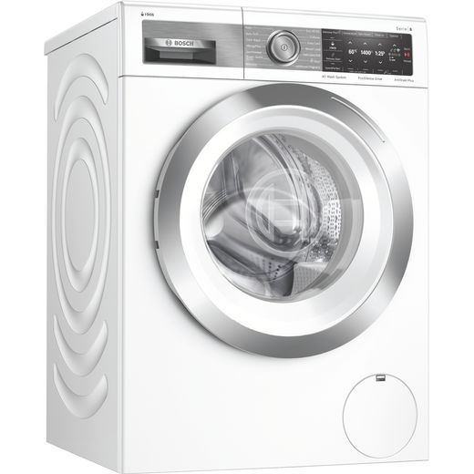 Bosch Serie 8 i-Dos™ WAX28EH1GB Wifi Connected 10Kg Washing Machine with 1400 rpm - White - B Rated