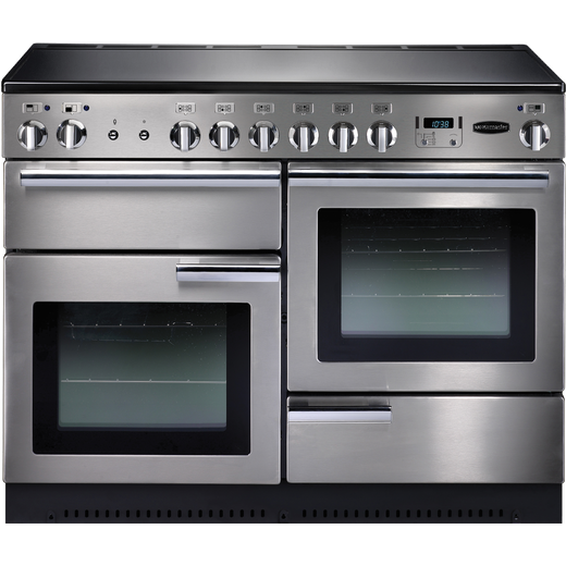 Rangemaster Professional Plus PROP110ECSS/C 110cm Electric Range Cooker with Ceramic Hob - Stainless Steel - A/A Rated