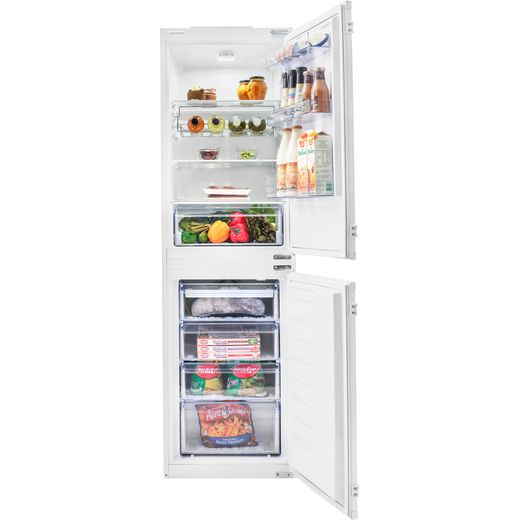 Beko BCFD350 Integrated 50/50 Frost Free Fridge Freezer with Sliding Door Fixing Kit - White - F Rated