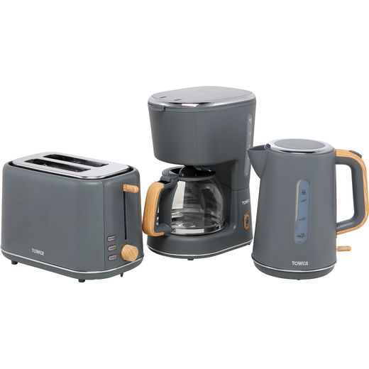 Tower Scandi AOBUNDLE018 Kettle And Toaster Set - Grey