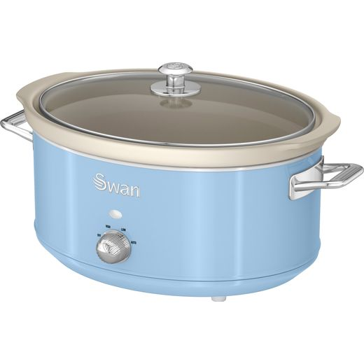 Swan Retro SF17031BLN 6.5 Litre Slow Cooker - Blue