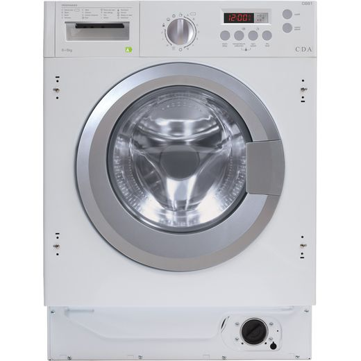 CDA CI981 Integrated 8Kg / 6Kg Washer Dryer with 1400 rpm - White - E Rated