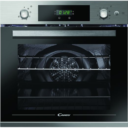 Candy FCPKS816X Built In Electric Single Oven with added Steam Function - Stainless Steel - A Rated