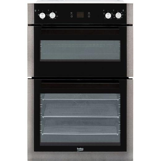 Beko BXDF29300Z Built In Electric Double Oven - Black Steel - A/A Rated