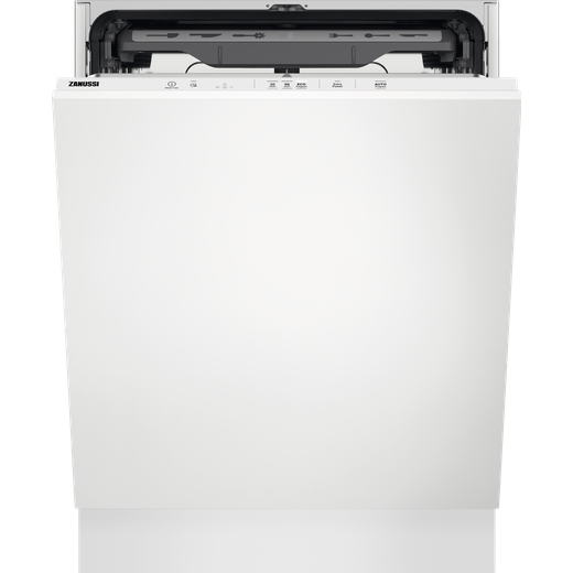 Zanussi ZDLN2621 Fully Integrated Standard Dishwasher - Black Control Panel with Fixed Door Fixing Kit - E Rated