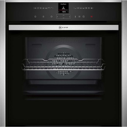 NEFF N70 Slide&Hide® B57VR22N0B Built In Electric Single Oven with added Steam Function - Stainless Steel - A+ Rated