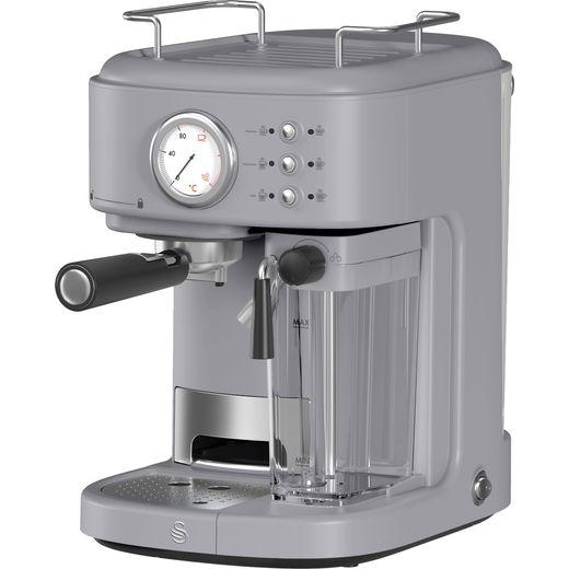 Swan Retro SK22150GRN Espresso Coffee Machine - Grey