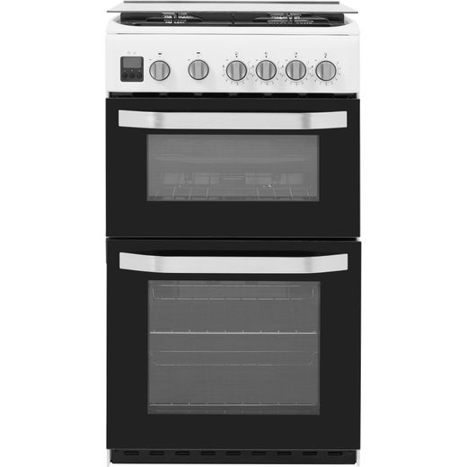 Hotpoint HD5G00CCW/UK Gas Cooker with Full Width Gas Grill - White - A/B Rated