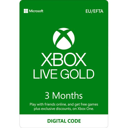 Xbox 	3 Month Xbox Live Gold Membership – Digital Code