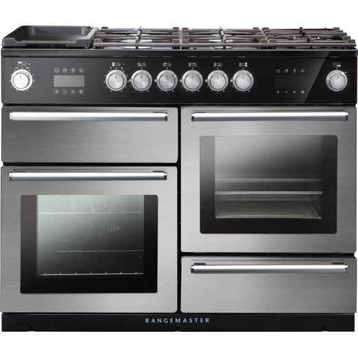 Rangemaster Nexus Steam NEX110SODFFSS/C 110cm Dual Fuel Range Cooker - Stainless Steel - A Rated