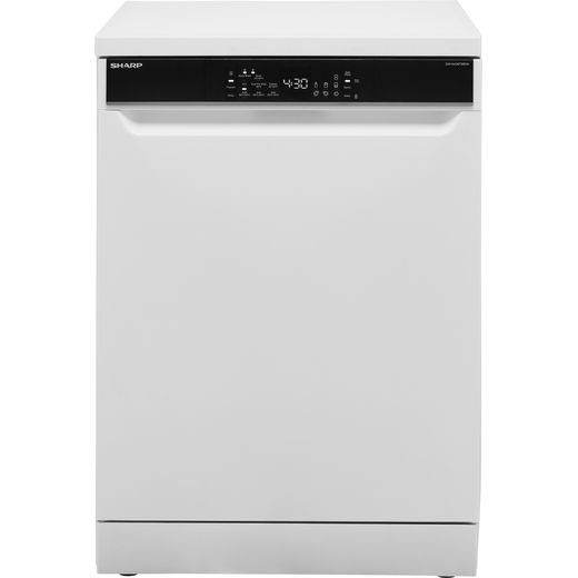 Sharp QW-NA26F39DW-EN Standard Dishwasher - White - D Rated