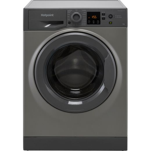 Hotpoint NSWM1043CGGUKN 10Kg Washing Machine with 1400 rpm - Graphite - C Rated