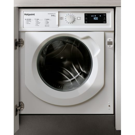 Hotpoint BIWDHG961484UK Integrated 9Kg / 6Kg Washer Dryer with 1400 rpm - White - D Rated