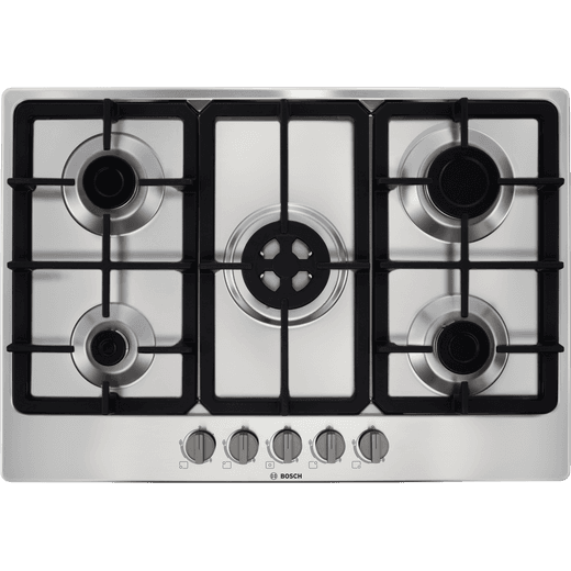 Bosch Serie 4 PGQ7B5B90 Built In Gas Hob - Stainless Steel