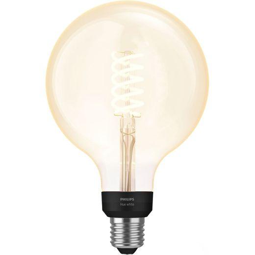 Philips Hue E27 Filament Globe Smart Bulb - A+ Rated