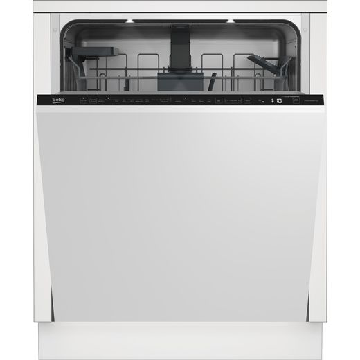 Beko DIN59420D Wifi Connected Fully Integrated Standard Dishwasher - Silver Control Panel with Fixed Door Fixing Kit - E Rated