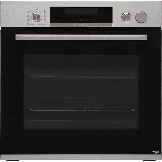 Bosch Serie 6 HRS538BS6B Built In Electric Single Oven with added Steam Function - Stainless Steel - A Rated