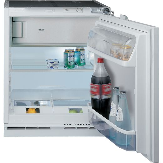 Hotpoint HFA1.UK1 Integrated Under Counter Fridge - Fixed Door Fixing Kit - Steel - F Rated