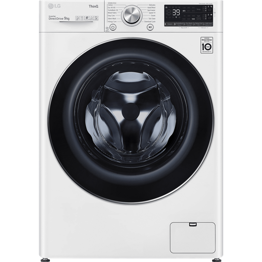 LG V9 F6V909WTSA Wifi Connected 9Kg Washing Machine with 1600 rpm - White - A Rated