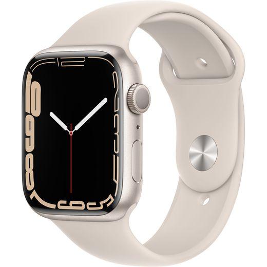 Apple Watch Series 7, 45mm, GPS [2021] - Starlight Aluminium Case with Starlight Sport Band